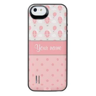 Luftballonger och polka dotspersonlig iPhone SE/5/5s batteri skal