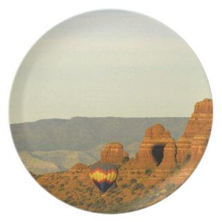 Luftballonger på Sedona, Arizona, USA Tallrik