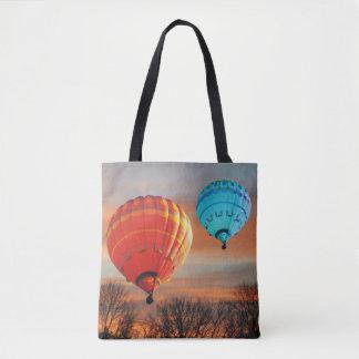 Luftballonger på soluppgången tygkasse