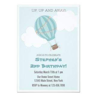 Luftballongfödelsedagsfest inbjudan