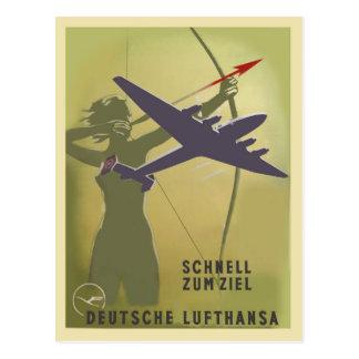 Lufthansa 1937 vykort