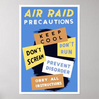 Luftrazziaförsiktigheter -- WWII Poster