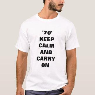 Lugn för 70 behålla och bär på t shirts