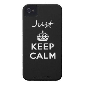 Lugn för behålla för vittext precis iPhone 4 Case-Mate skydd