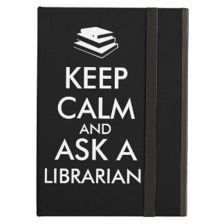 Lugn för bibliotekariegåvabehålla frågar en fodral för iPad air