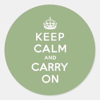 Lugn för Eco gröntbehålla och bär på Runt Klistermärke