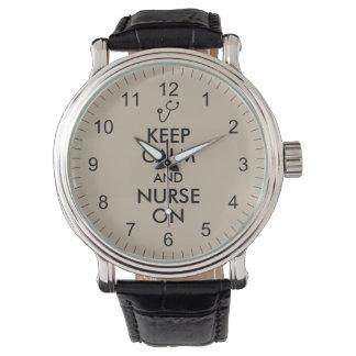 Lugn och sjuksköterska för behålla för armbandsur