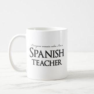 Lugna, återstår I-förmiddagen en spansk lärare Kaffemugg