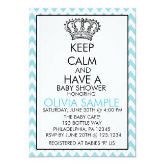 Lugna baby showerinbjudan för behålla 12,7 x 17,8 cm inbjudningskort