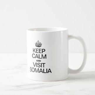 LUGNA BEHÅLLA OCH BESÖK SOMALIA VIT MUGG