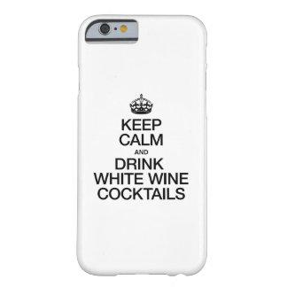 LUGNA BEHÅLLA OCH COCTAILAR FÖR DRINKVITVIN BARELY THERE iPhone 6 FODRAL