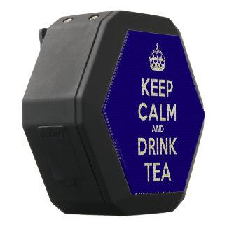 Lugna behålla och drinkTea Svart Bluetooth Högtalare