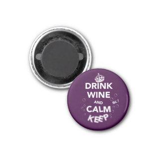 Lugna behålla och drinkvin (nästan) magnet