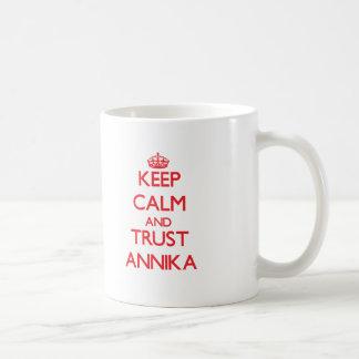 Lugna behålla och FÖRTROENDE Annika Kaffemugg