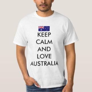 Lugna behålla och kärlek Australien T Shirt