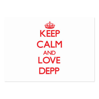 Lugna behålla och kärlek Depp Visitkort Mall