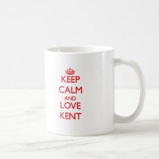 Lugna behålla och kärlek Kent Vit Mugg
