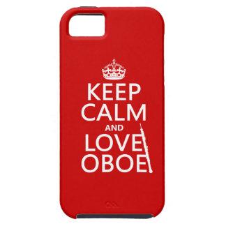 Lugna behålla och kärlek Oboe (någon iPhone 5 Case-Mate Skal