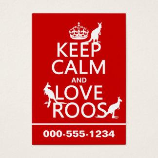 Lugna behålla och kärlek Roos (kängurur) Visitkort