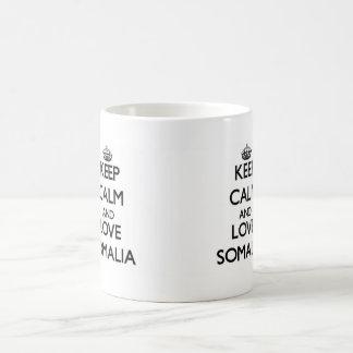 Lugna behålla och kärlek Somalia Kaffemugg