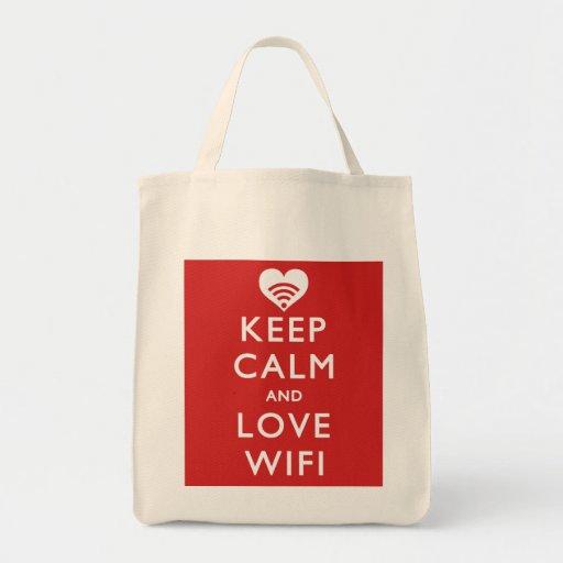 Lugna behålla och kärlek WiFi Kasse