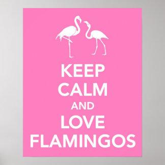 Lugna behålla och kärlekFlamingos Poster
