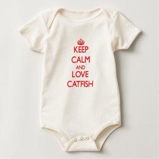 Lugna behålla och kärlekhavskatt body för baby