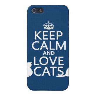 Lugna behålla och kärlekkatter iPhone 5 cover