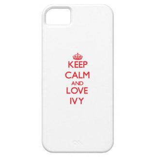 Lugna behålla och kärlekmurgröna iPhone 5 Case-Mate skydd