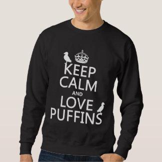 Lugna behålla och kärlekPuffins (någon Långärmad Tröja