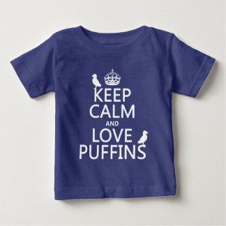 Lugna behålla och kärlekPuffins (någon Tee Shirt