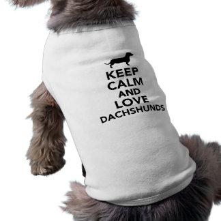 Lugna behålla och kärlektaxar långärmad hundtöja