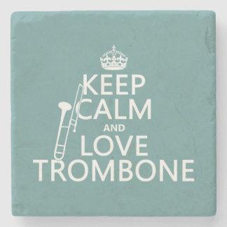 Lugna behålla och kärlekTrombone (någon Stenunderlägg