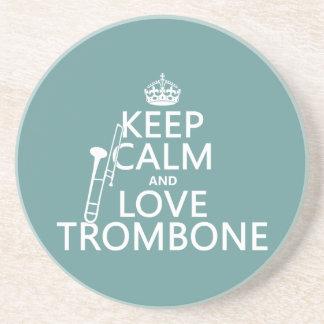 Lugna behålla och kärlekTrombone (någon Underlägg Sandsten
