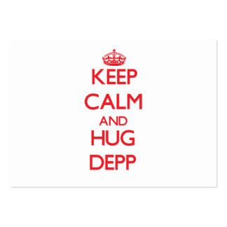 Lugna behålla och kram Depp Set Av Breda Visitkort