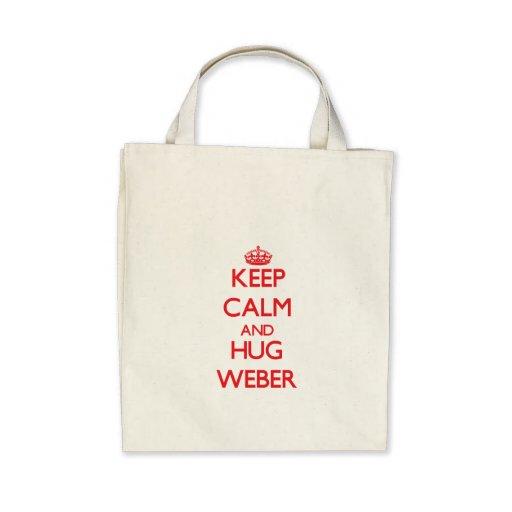 Lugna behålla och kram Weber Tote Bags