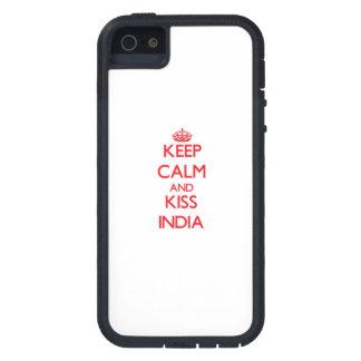 Lugna behålla och kyss Indien iPhone 5 Case-Mate Fodral