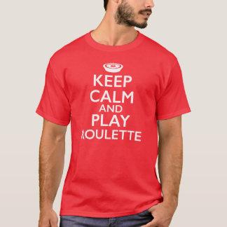 Lugna behålla och lekroulett t-shirts