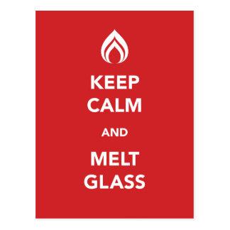Lugna behålla och Meltexponeringsglas Vykort