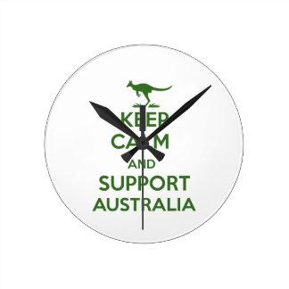 Lugna behålla och service Australien Rund Klocka