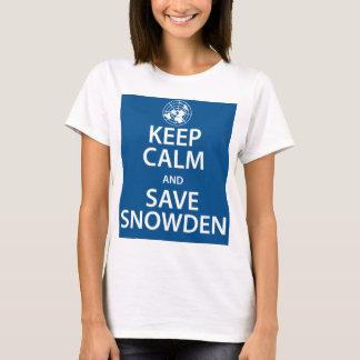 Lugna behålla och spara Snowden Tee Shirts