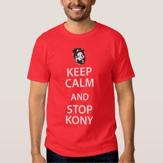 Lugna behålla och T-tröja för stopp KONY T Shirt