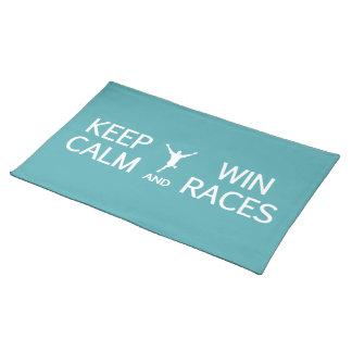Lugna behålla & segertävlingbordstablett bordstablett