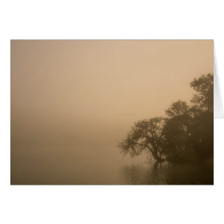 Lugna dimma - saknad dig hälsningskort
