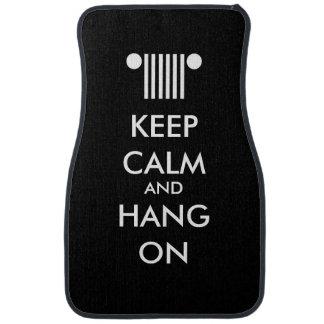 Lugna hängning för behålla på bil golvmatta