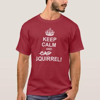 Lugna och EKORREmörkbehålla utslagsplats T-shirt