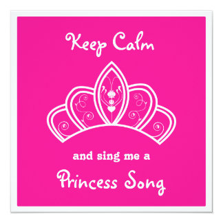 Lugna rosa Princess Sång Karaoke Festa för behålla Anpassade Inbjudan