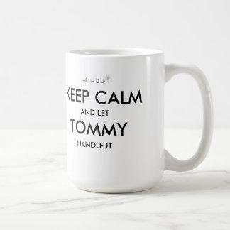 Lugna Tommy för behålla mugg med bokomslag