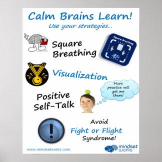 Lugnaa hjärnor lärer affischen för Brainology® Poster