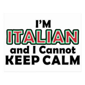 Lugnaa italienare för behålla vykort